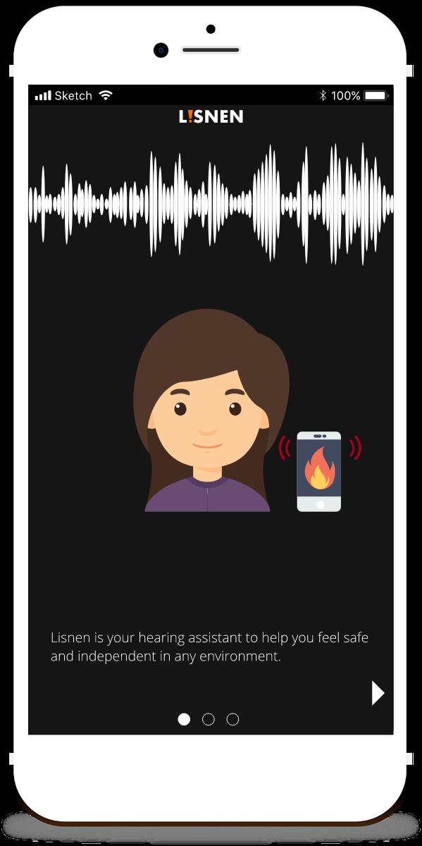 Lisnen app screenshot
